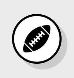 American simple football ball flat black vector