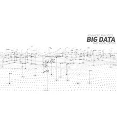 Big data grayscale plot vector