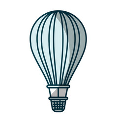 blue shading silhouette of hot air balloon vector image vector image