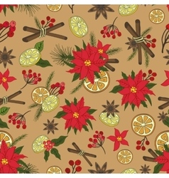 Christmas samless pattern setnew year doodles vector