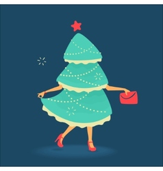 Christmas tree symbol vector