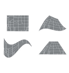 City road map - set vector