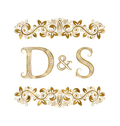 D and s vintage initials logo symbol the letters vector