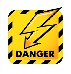 danger button vector image vector image