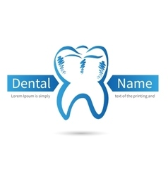 Design dental logos vector image vector image