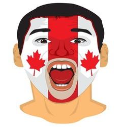 Go Go Canada face vector image vector image