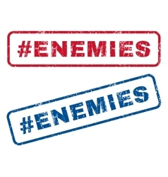 Hashtag enemies rubber stamps vector