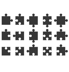 Jigsaw icon vector