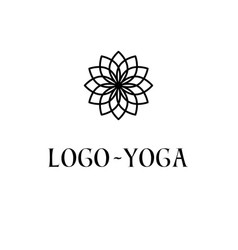 lotus logo template logotype for yoga practice vector image vector image