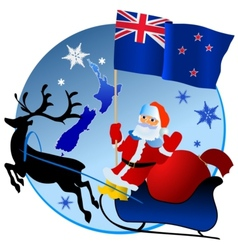 Merry Christmas New Zealand vector image vector image