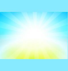 nature landscape of blue sky vector image vector image
