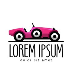 retro car logo design template transport vector image