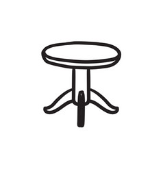 Round table sketch icon vector