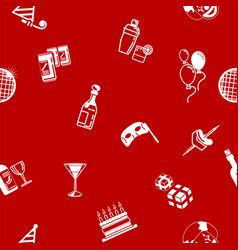 seamless party background texture vector image vector image