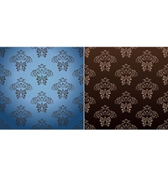 seamless wallpaper set curves vintage background vector image