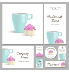 Set of corporate style restaurant vector image vector image