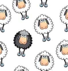 Sheep Seamless pattern vector image vector image