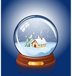 Snowy glass ball vector image