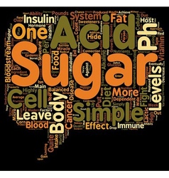 Sugar and the ph miracle diet text background vector