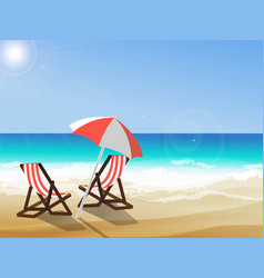 summer seaside view vector image vector image