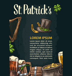 Vertical poster for saint patrick s day vector