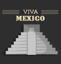 viva mexico festival heritage vector image vector image