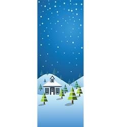winter banner2 vector image vector image