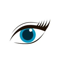Eye female look vision optical icon vector