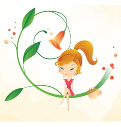 Fairy on the flower vector