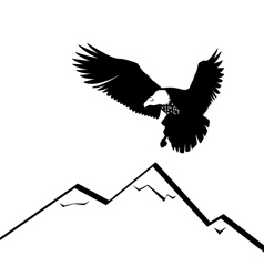 Eagle in the mountains vector
