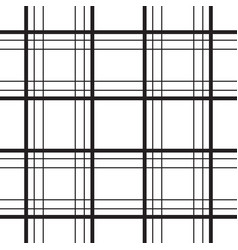 geometric plaid line black and white minimalistic vector image