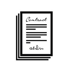 set of contracts vector image