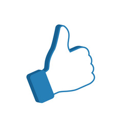 Like symbol social media icon thumb up vector