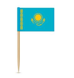 Flag of kazakhstan flag toothpick 10eps vector