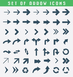 Set of arrow icons vector image