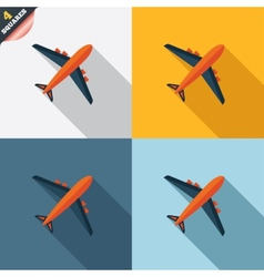 Airplane sign plane symbol travel icon vector