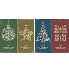 Christmas decor set vector