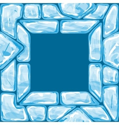 Square frame on ice seamless pattern vector
