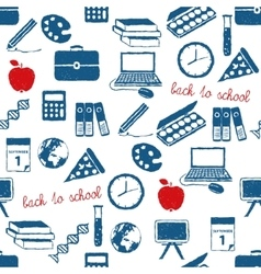 Back to school doodle pattern vector