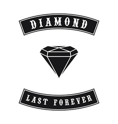 Diamond gemstone vector