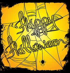 Halloween with net vector