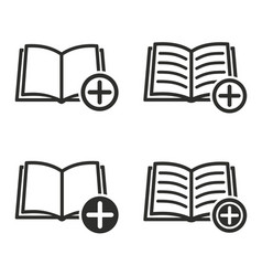 add book icon set vector image vector image