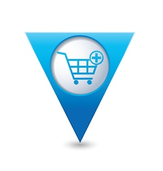 add to basket BLUE triangular map pointer vector image