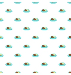 Airline food pattern cartoon style vector
