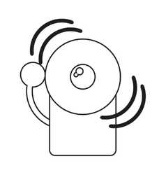 Alarm fire emergency alert icon line vector