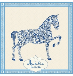 Arabic floral horse vector image