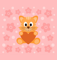 Background with funny cat cartoon vector