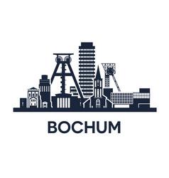 Bochum city skyline vector