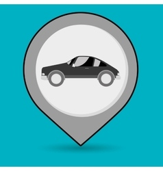 car pin location icon vector image