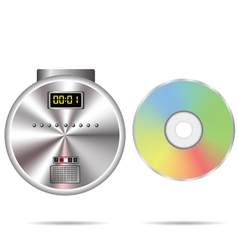 Cd player and compact disc vector